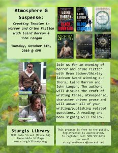 Horror and Crime Fiction with Laird Barron & John Langan