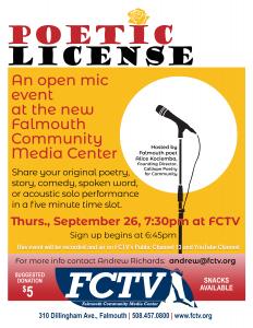 Poetic License #2 - Open Mic Night