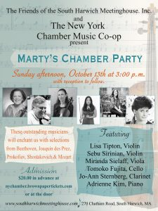 Marty's Chamber Party featuring the New York Chamber Music Co-op