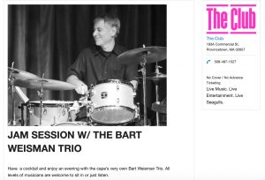 The Club Jam Session Hosted by Bart Weisman