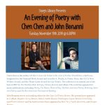 An Evening of Poetry with Chen Chen and John Bonanni