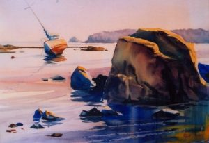 Watercolor with Robert Mesrop at the Creative Arts...