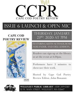 Cape Cod Poetry Review Open Mic and Issue 6 Launch