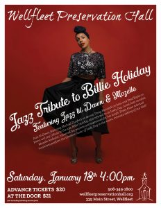 Jazz Tribute to Billie Holiday featuring Mozelle