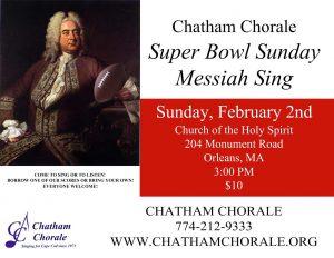 """Super Bowl Sunday """"Messiah"""" Sing"""
