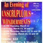 AN EVENING OF UNSCRUPULOUS WONDERMENTS
