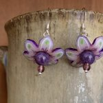 Shrink Art Spring Flower Earrings, with Kim Rumberger