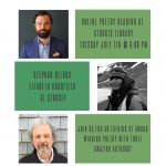 Poetry Reading with Stephan Delbos, Elizabeth Bradfield, and Al Starkey (ONLINE)