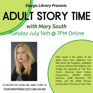 Adult Story Time with Mary South (Online)