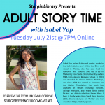 Adult Storytime with Isabel Yap (Online)