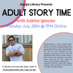 Adult Story Time with Gabino Iglesias (ONLINE)