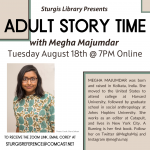 Online Adult Story Time with Megha Majumdar
