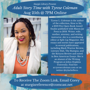Online Adult Story Time with Tyrese Coleman