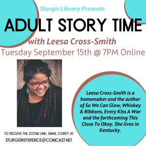 Online Adult Story Time With Leesa Cross-Smith