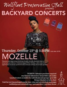 Backyard Concert Series: Mozelle