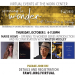 "Marie Howe and Walter Mosley – ""Opening to Wonder"" Series Introduction and Conversation"