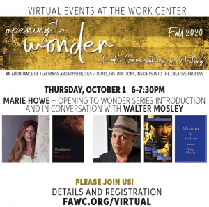"Marie Howe and Walter Mosley: ""Opening to Wonder"" Series Introduction and Conversation"