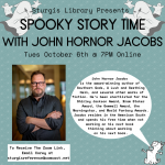Spooky Online Adult Story Time with John Hornor Jacobs