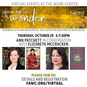 Craft Conversation with Ann Patchett and Elizabeth McCracken