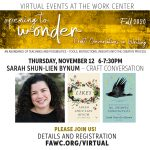 Craft Conversation with Sarah Shun-lien Bynum