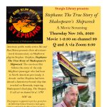 Stephano: The True Story of Shakespeare's Shipwreck A Movie Screening with Sturgis Library