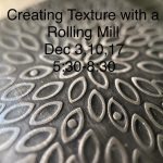 Metalsmithing 101: Creating Textures with a Rolling Mill