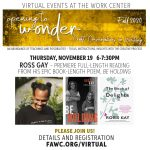 Premiere of Ross Gay's epic book-length poem, Be Holding, followed by Q&A