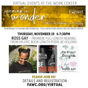 Premiere of Ross Gay's epic book-length poem, Be H...