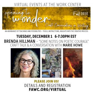 "Brenda Hillman - ""Some Notes on Poetry Courage"" Craft Talk & A Conversation with Marie Howe"