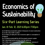 The Economics of Sustainability: a 6-part learning series with Sturgis Library
