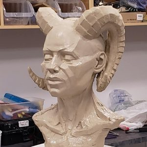 Do it@Home: Learn to Sculpt Portraits at Home from Photographs
