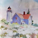 Zoom Watercolor Class - Light Keeper with Sue Dion...