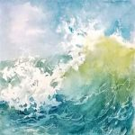 Zoom Watercolor Class - Watercolor Waves with 4 Ki...