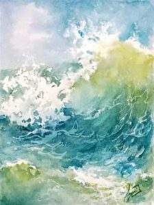 Zoom Watercolor Class - Watercolor Waves with 4 Kinds of Paper with Sue Dion