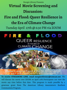 Environmental Film Screening and Discussion: Fire + Flood