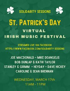 St. Patrick's Day Virtual Irish Music Festival