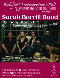 Sarah Burrill Band - Live from the Wellfleet Preservation Hall stage!