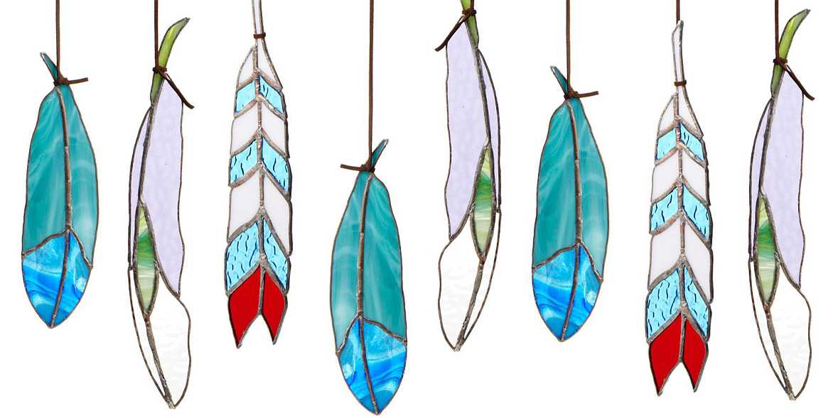 Stained Glass Feather Workshop, May 2021