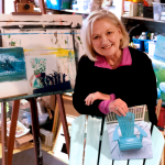 SNEAK PEEK! See the finished artist painted Adirondack Chairs!