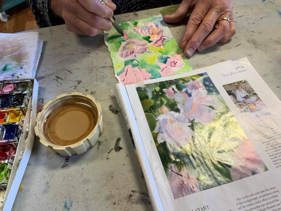 One-Day Intensive Watercolor Workshop, Spring 2021...