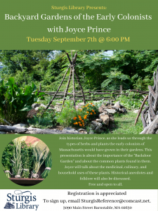 Backdoor Gardens of the Early Colonists With Joyce...