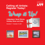 """""""Wrap it Up"""" Small Works Holiday Show & Sale: Call for Submissions"""
